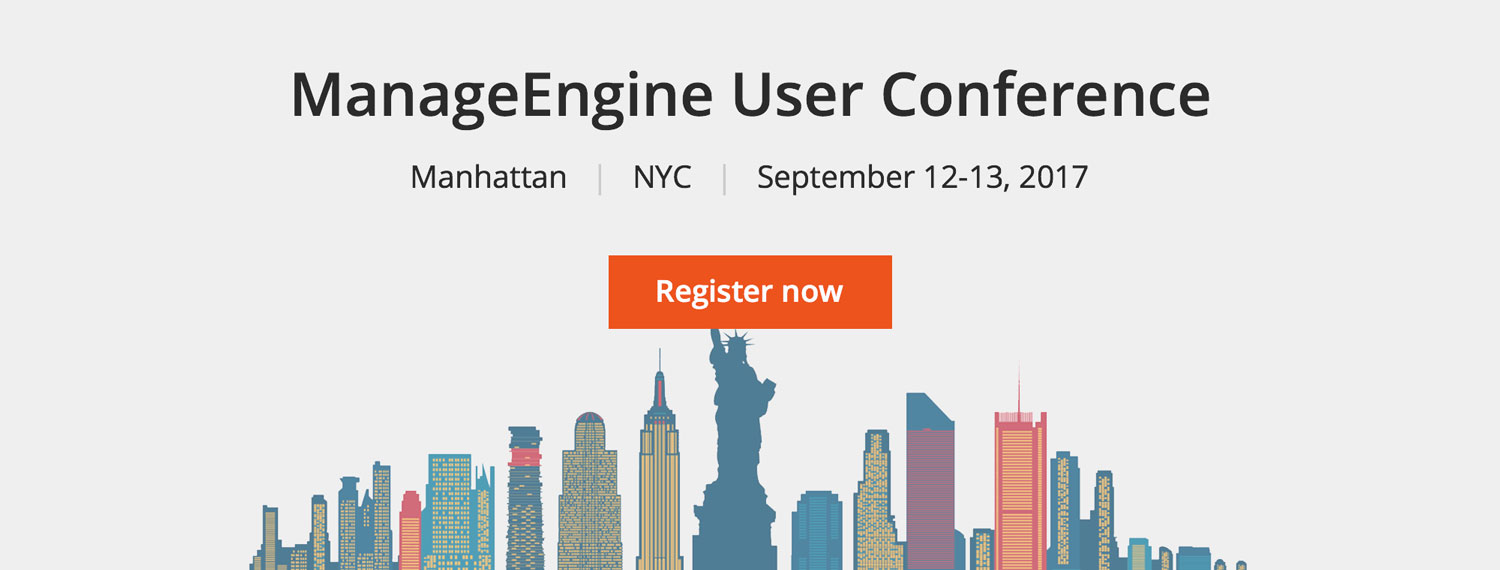 ManageEngine User Conference NYC.
