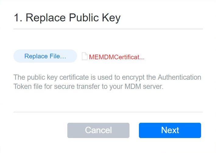 Cargar clave pública