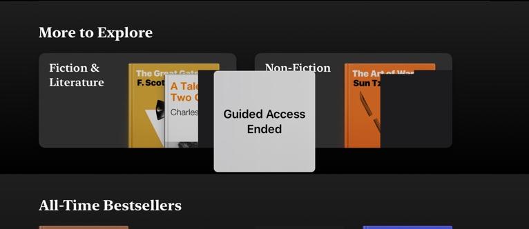 Ended iPad Kiosk Mode