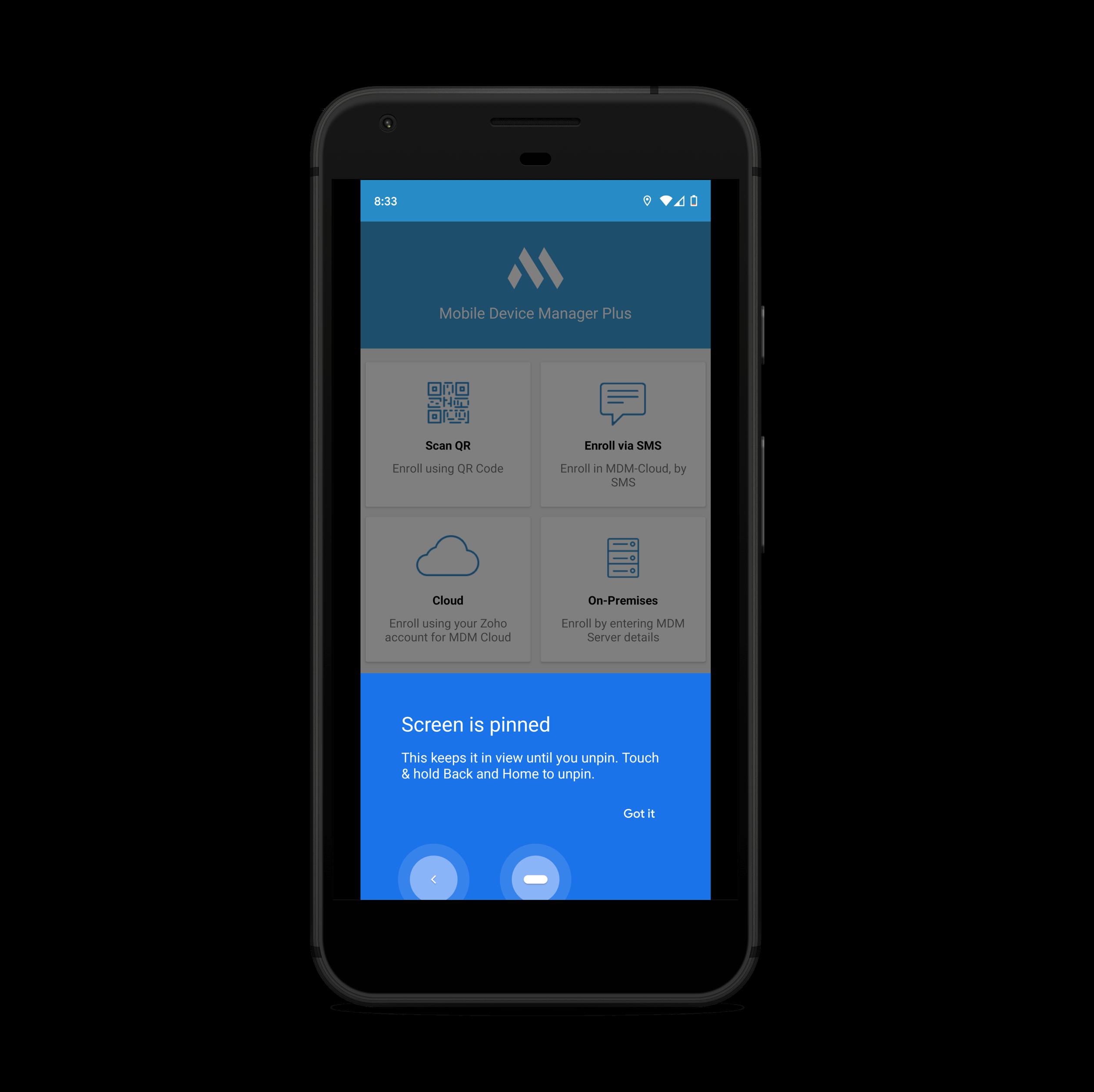 Anclar correctamente la aplicación de Android con Screen Pinning