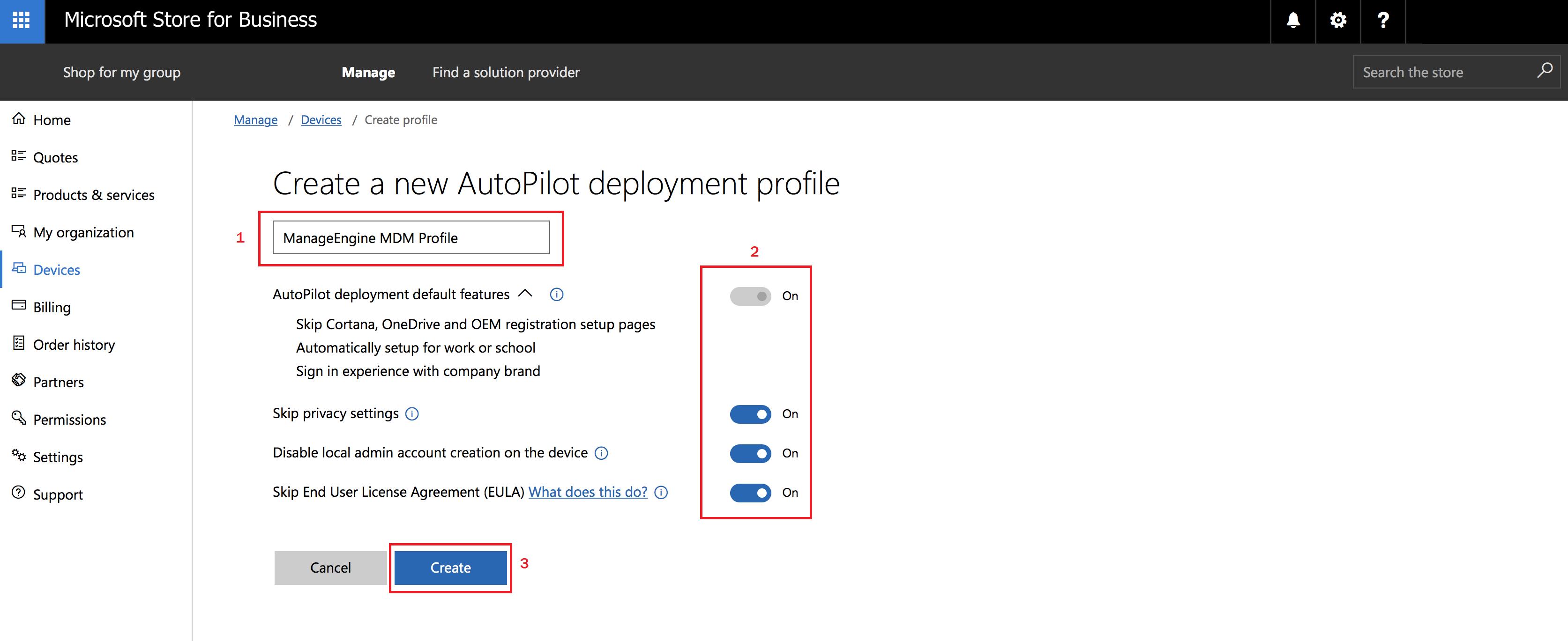 configure Windows Autopilot with MDM