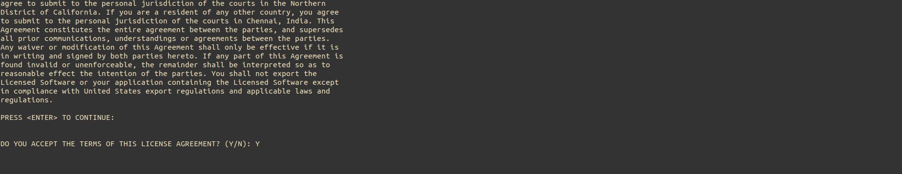 NCM Probe Linux Installation Step2