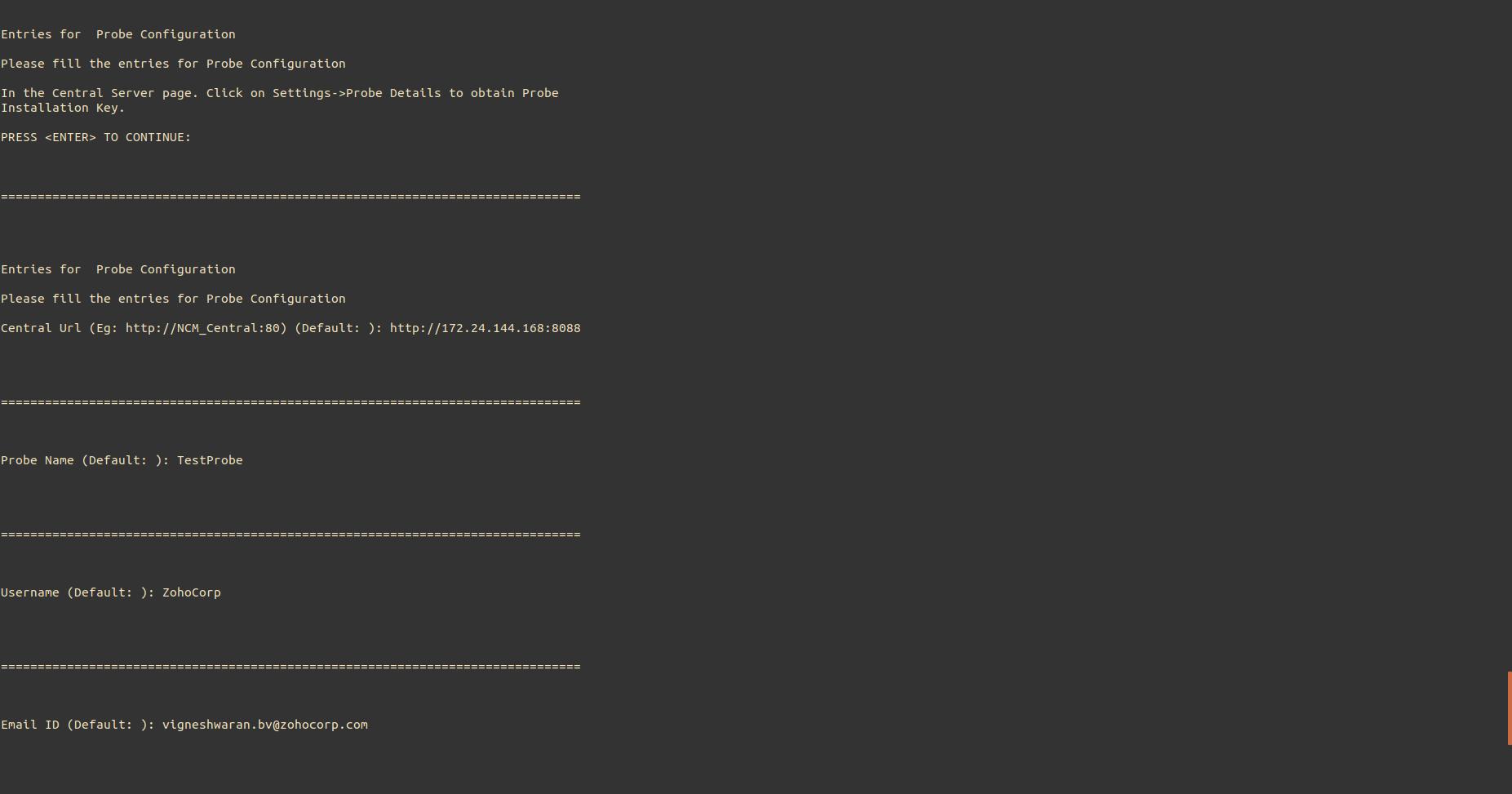 NCM Probe Linux Installation Step8