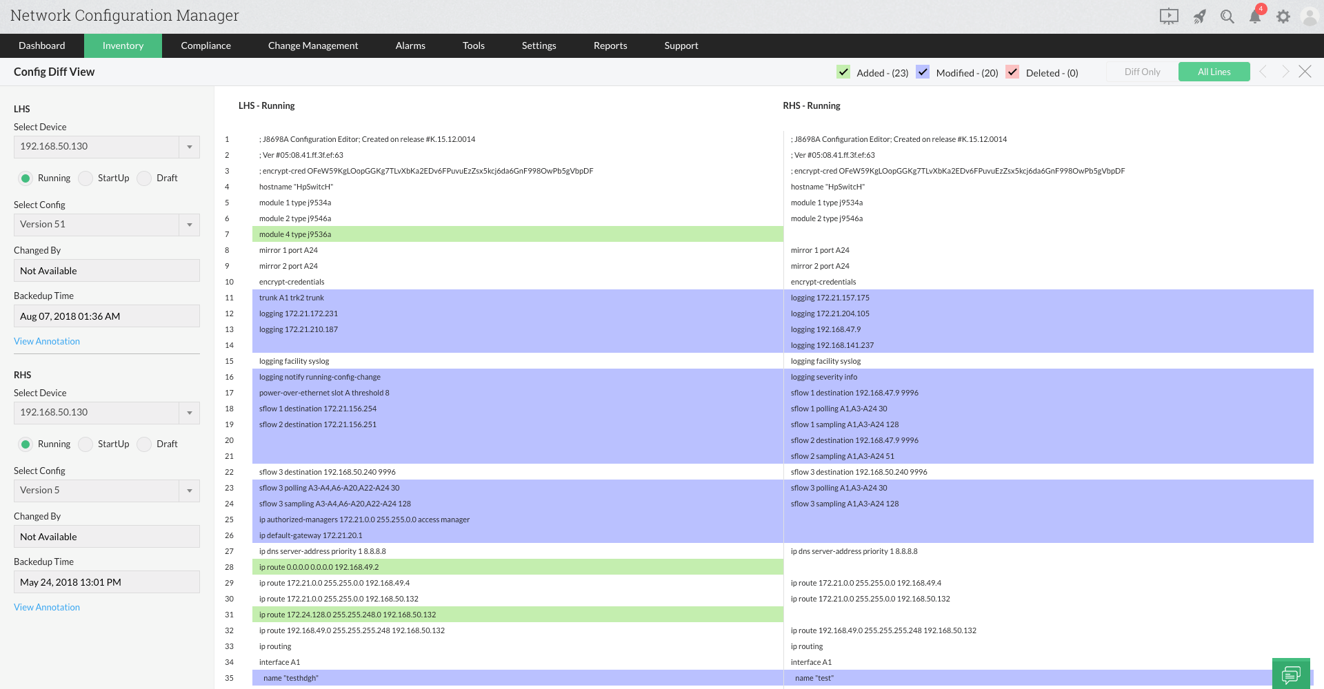 Config file manager comparison