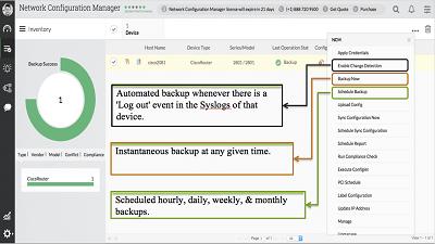 Free automated configuration backups