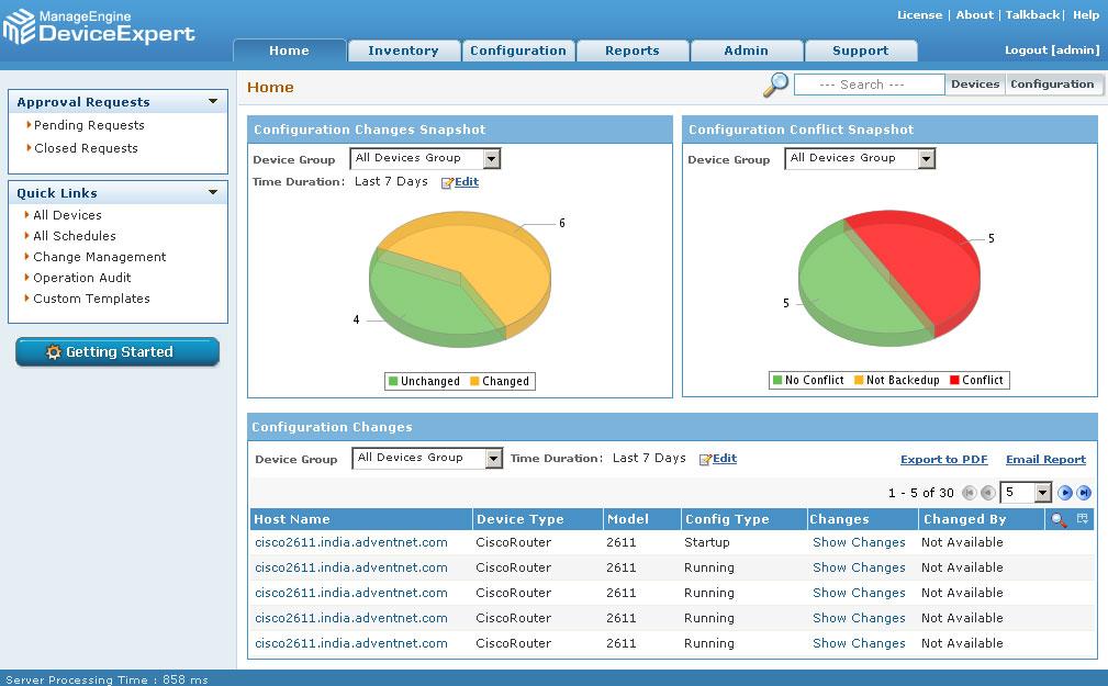 ManageEngine DeviceExpert(Network Configuration Management)