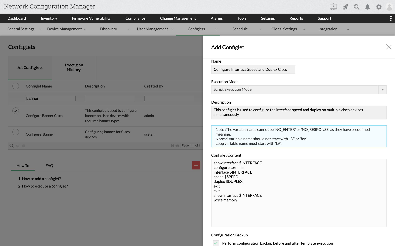 Configure Interface Speed and Duplex Cisco