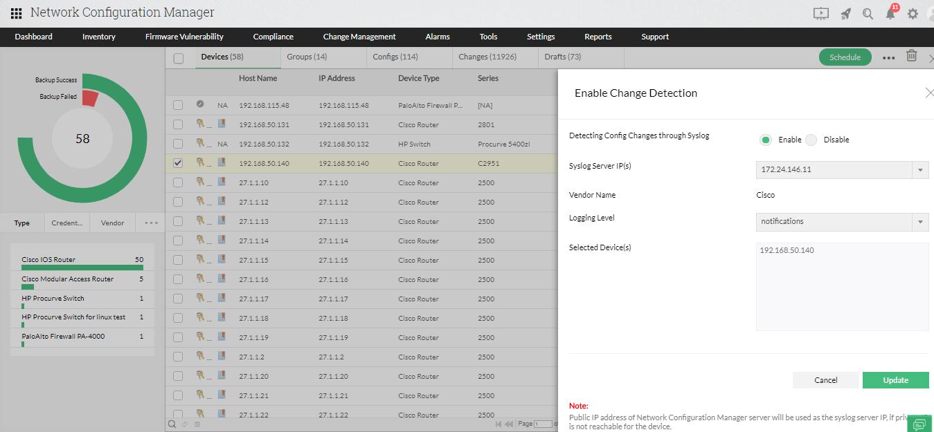 Configuration Backup Tool - ManageEngine Network Configuration Manager