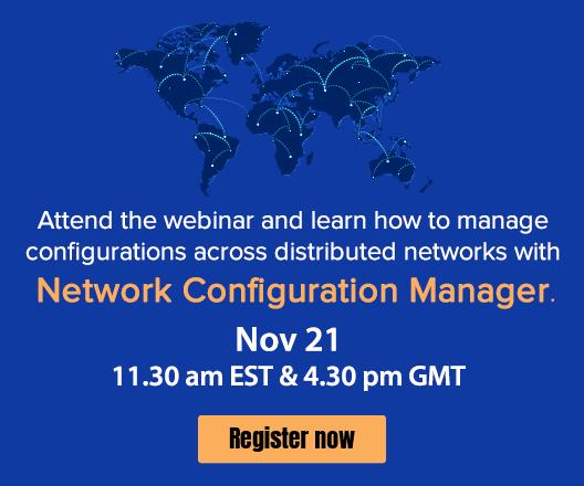 Network Configuration Manager  webinar banner
