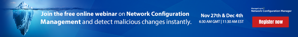 Free training on Network Configuration Manager