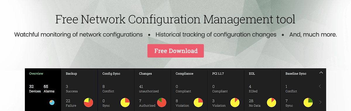 Free network configuration management tool