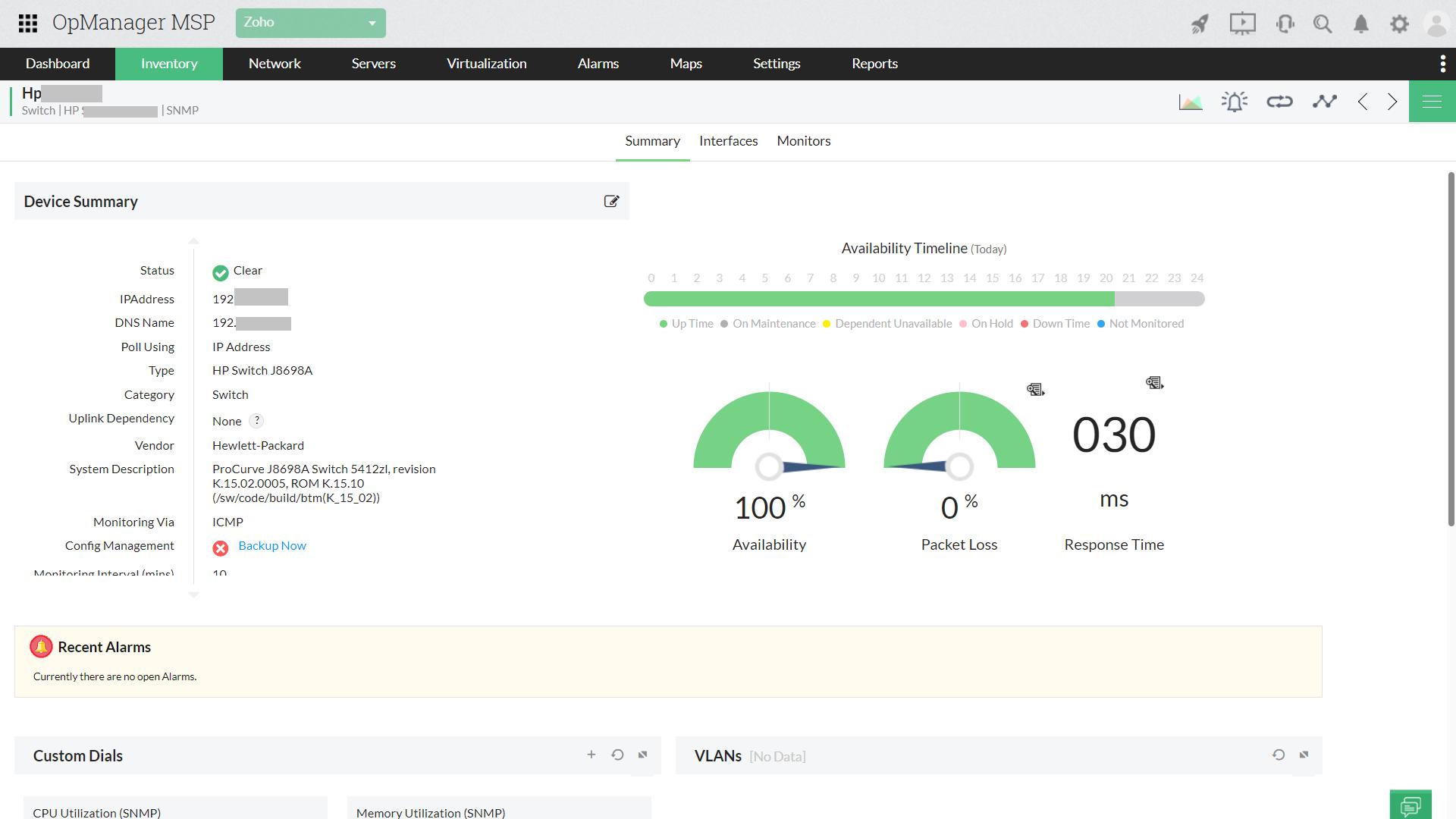 Multi-tenant network availability monitoring