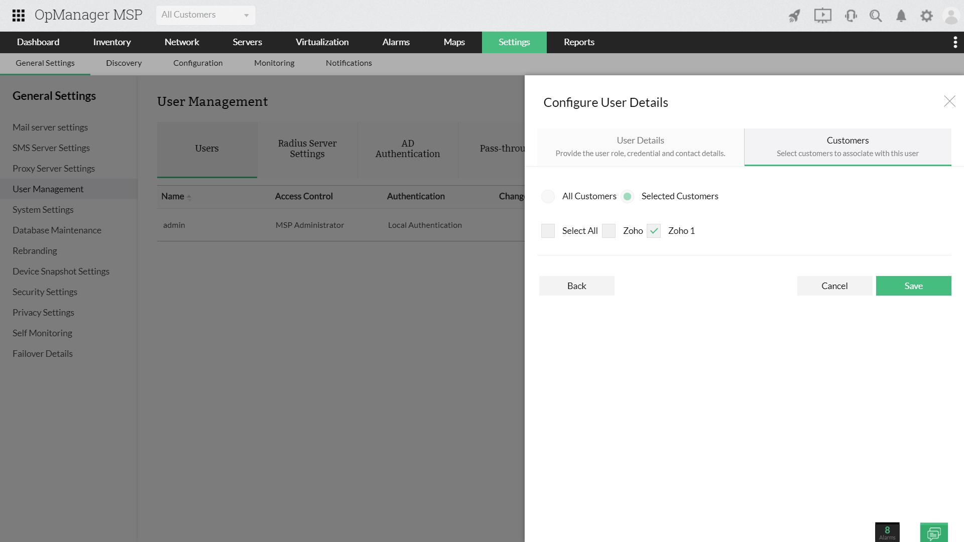 Server Monitoring MSP - ManageEngine OpManager MSP