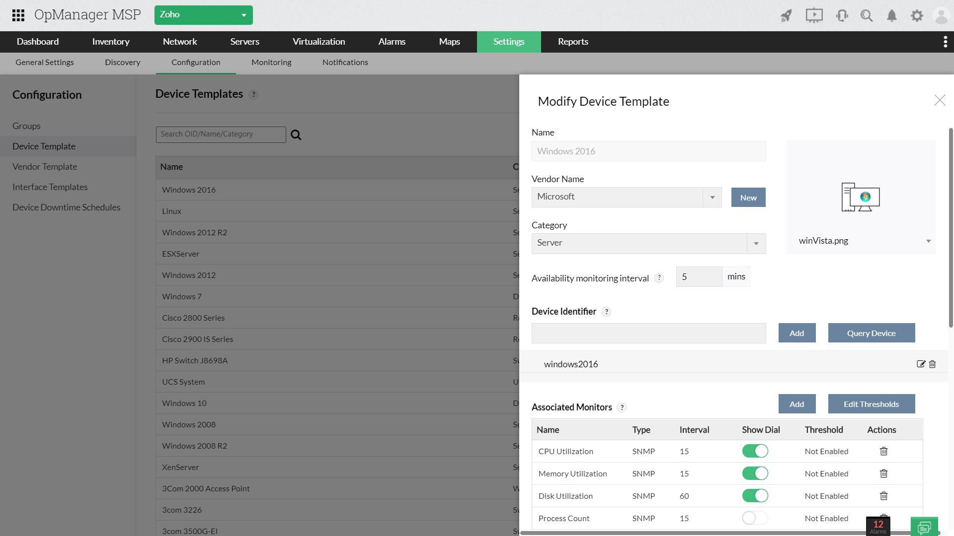 Server Performance Management MSP - ManageEngine OpManager MSP