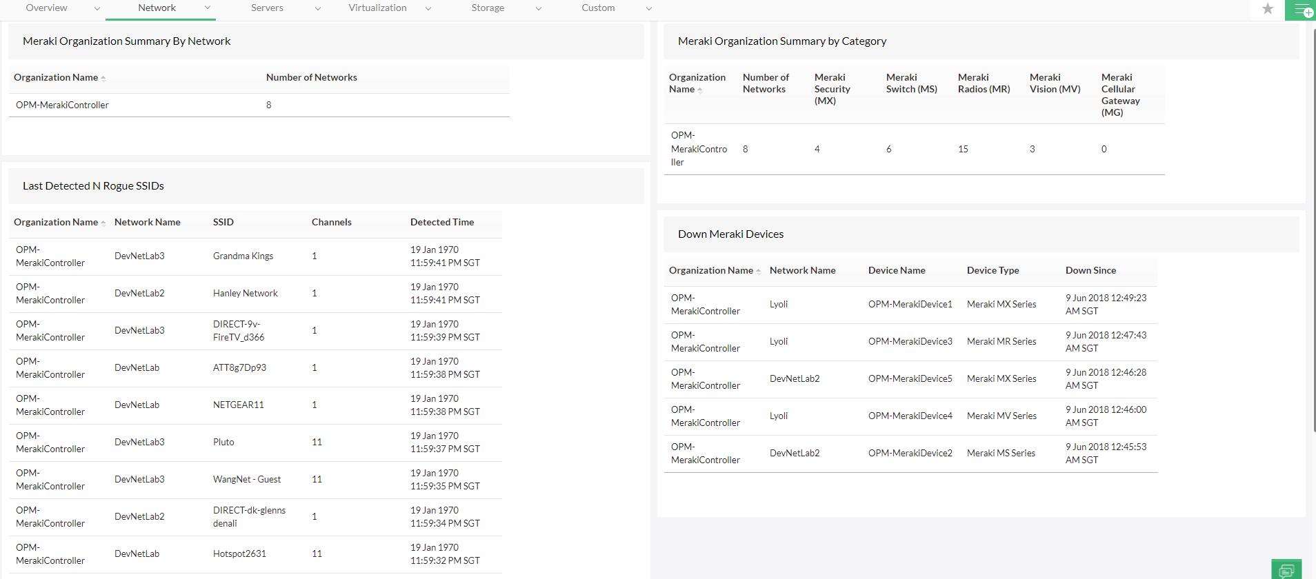 Monitoring Cisco Meraki - ManageEngine OpManager