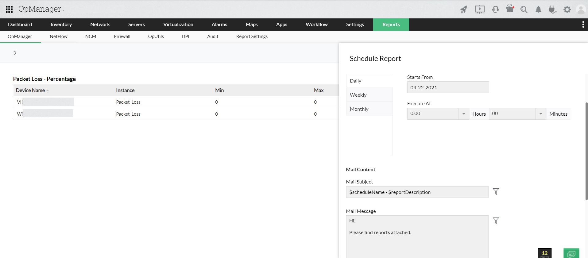 Report builder - ManageEngine OpManager Help