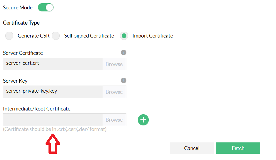 Root certificate
