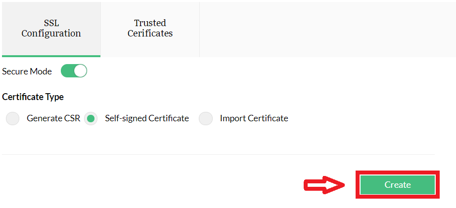 Self-Signed Certificate: