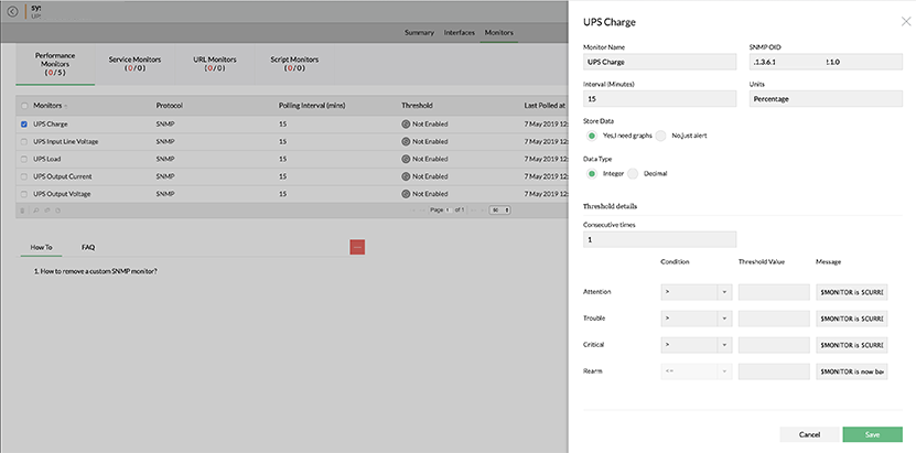 UPS Monitoring Software | UPS Monitor Tool - ManageEngine OpM