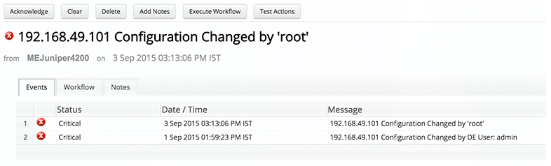 Network Configuration Change Alert - ManageEngine OpManager
