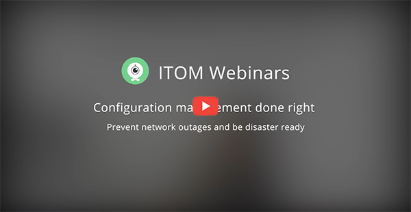 Configuration Management done right - Prevent network outages and be disaster ready