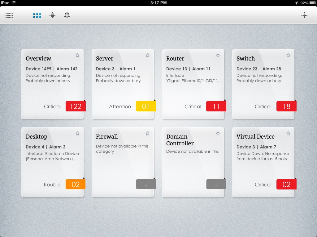 OpManager iPad App