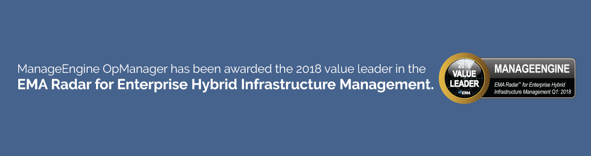 ManageEngine has been recognised in the EMA Radar for Enterprise Hybrid Infrastructure Management