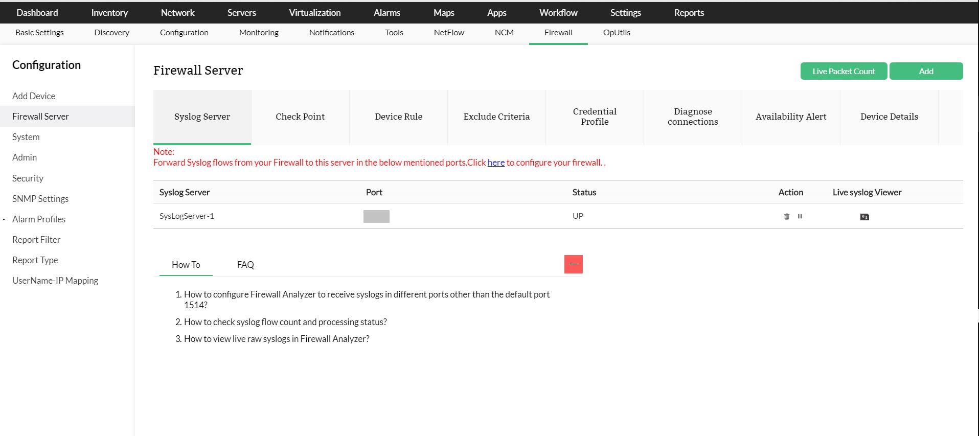 Firewall Assessment Tool - ManageEngine OpManager