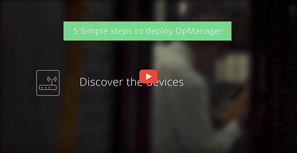 Getting started with OpManager
