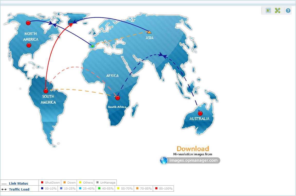 Custom network maps network mapping tool business views map global network map gumiabroncs Image collections