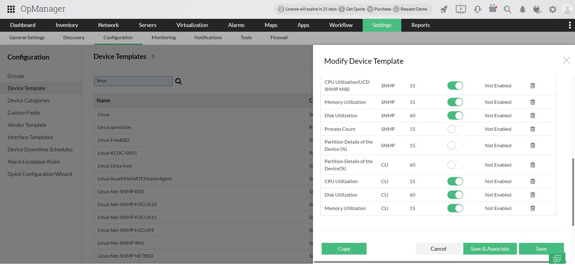 Telnet Monitoring - ManageEngine OpManager