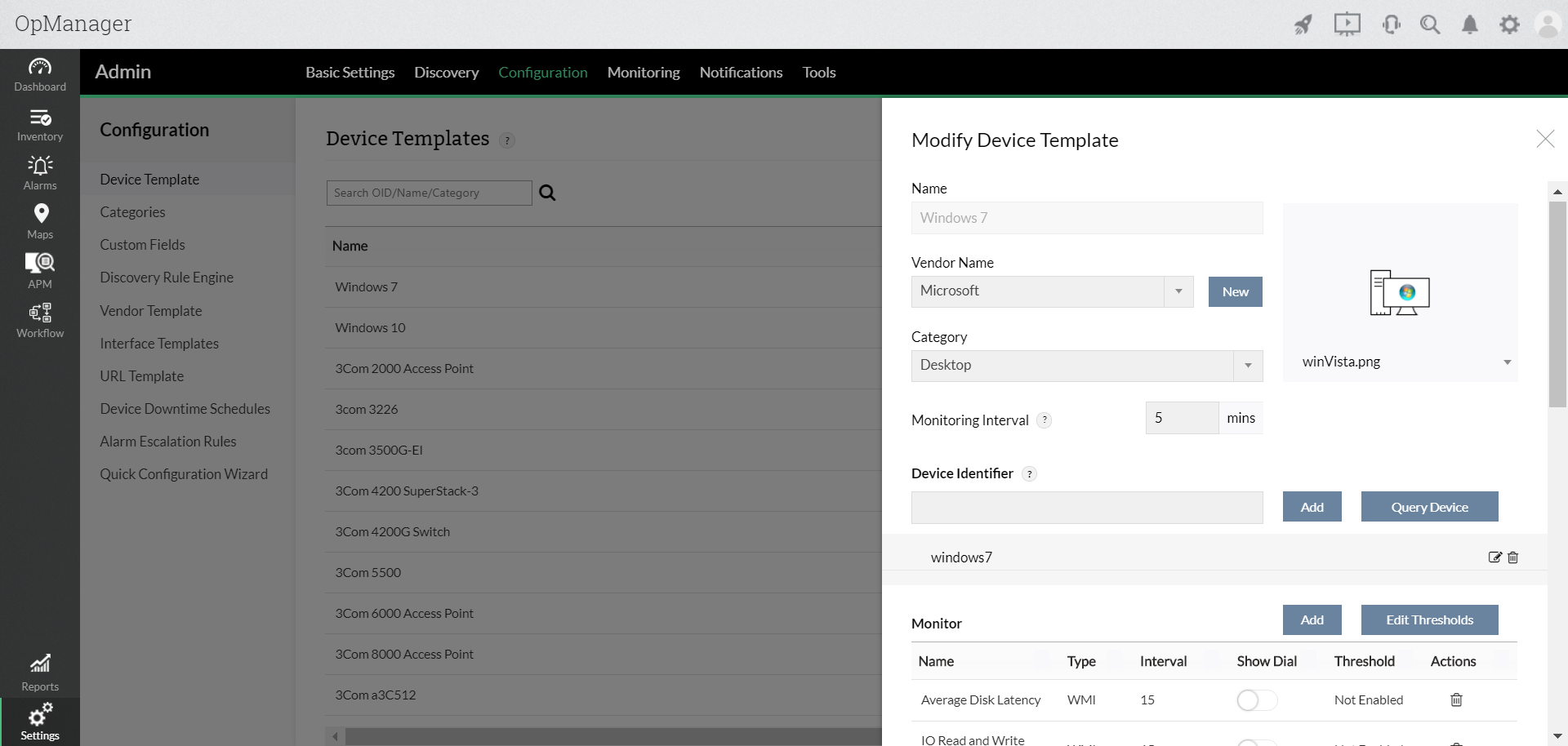 network monitor templates easy network monitoring opmanager