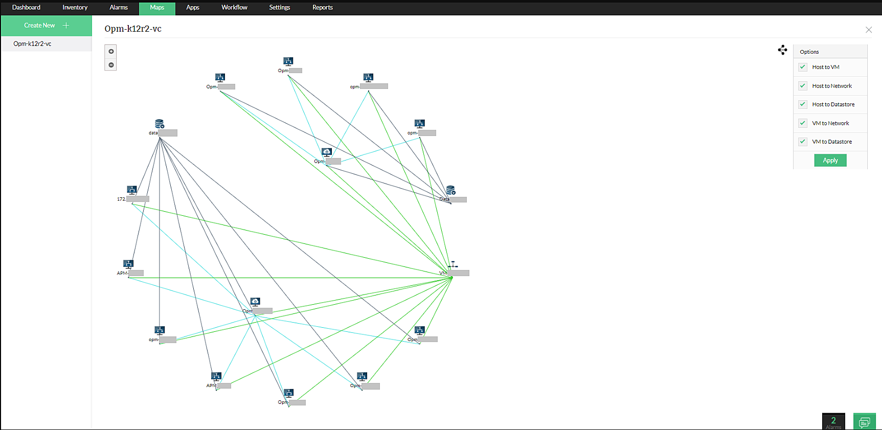 Network Mapping Visualization Tool - ManageEngine OpManager