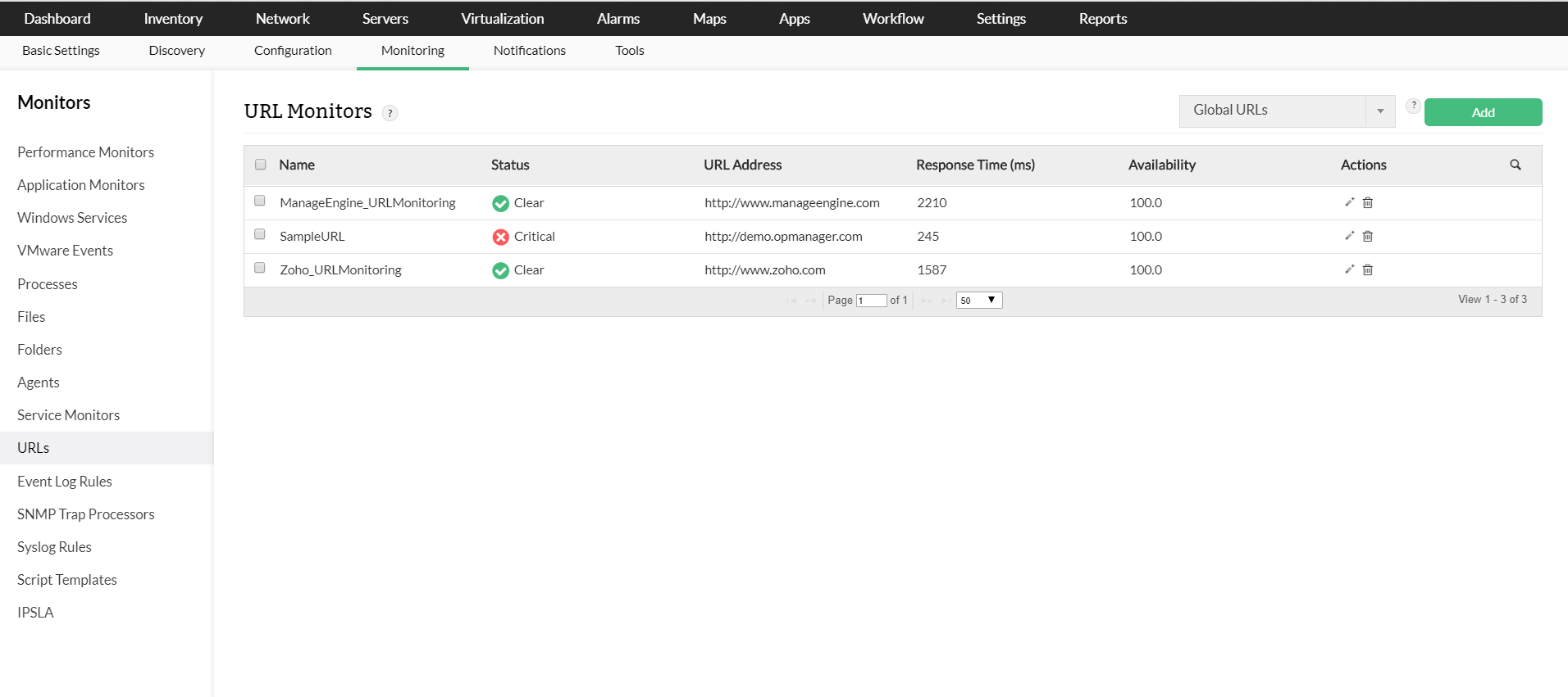 Network Performance Testing Tools - ManageEngine OpManager