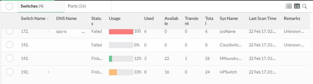 Agrupación y escaneo - ManageEngine OpManager