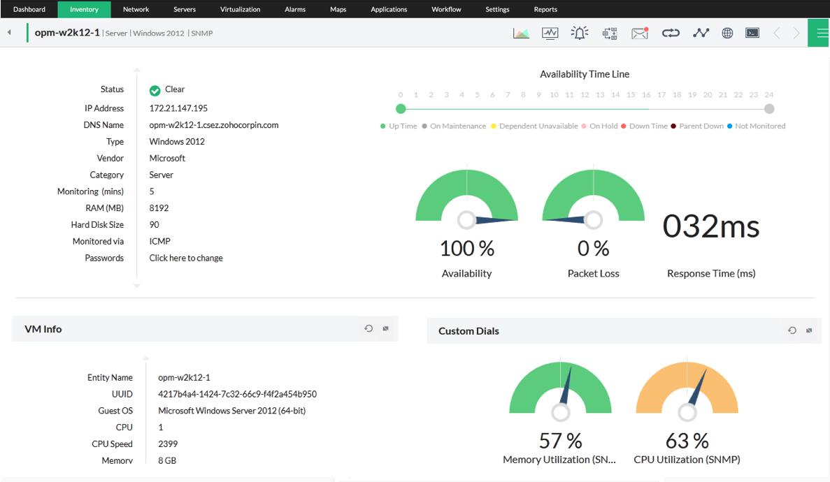 Server monitoring server monitoring software opmanager