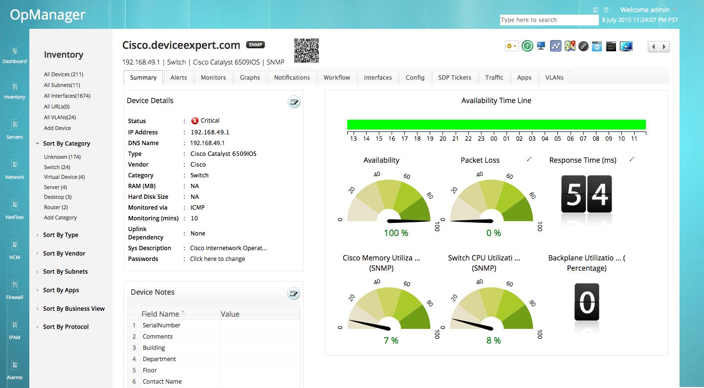 Cisco Network Monitoring : Cisco monitoring network management software