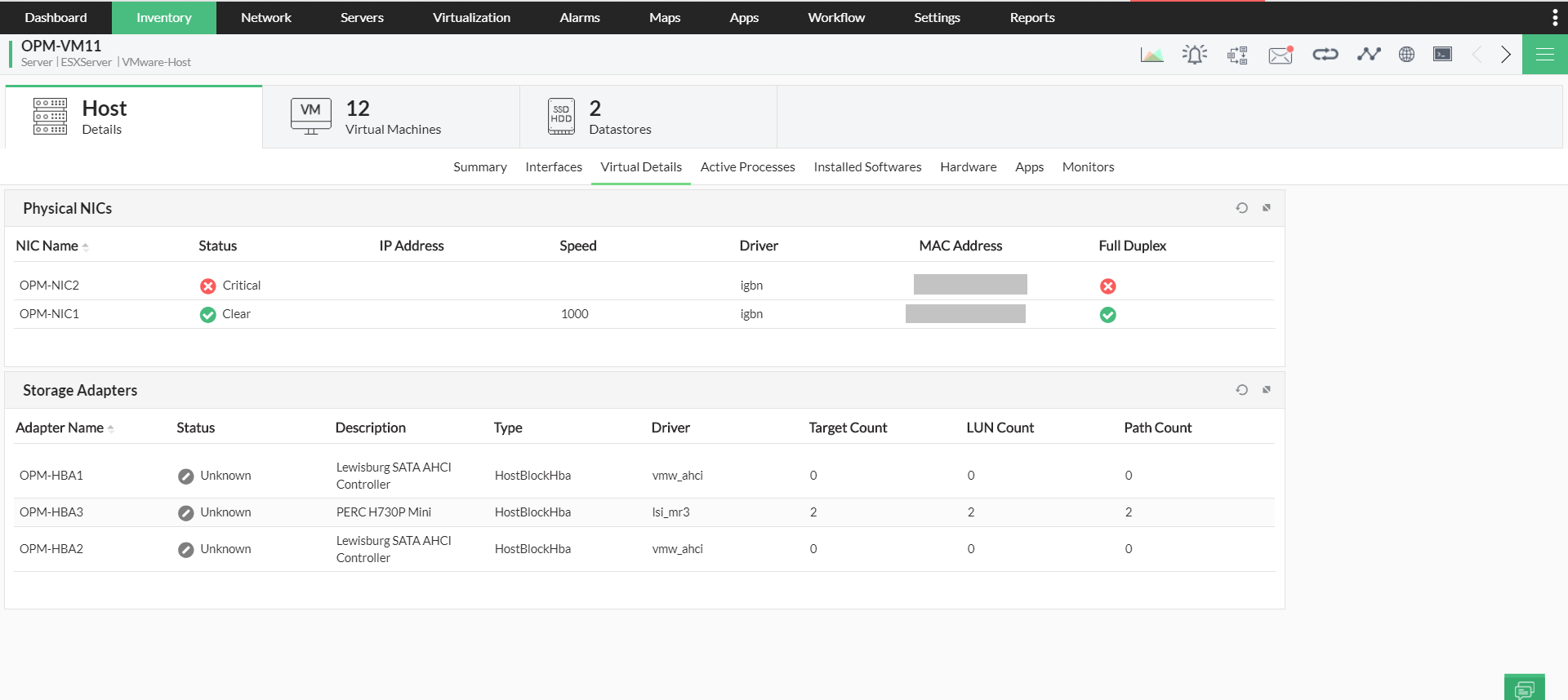 System Performance Monitor - ManageEngine OpManager