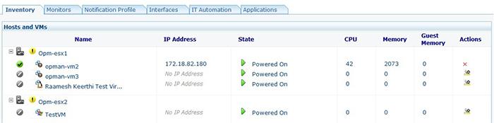 VMware monitoring through vSphere API