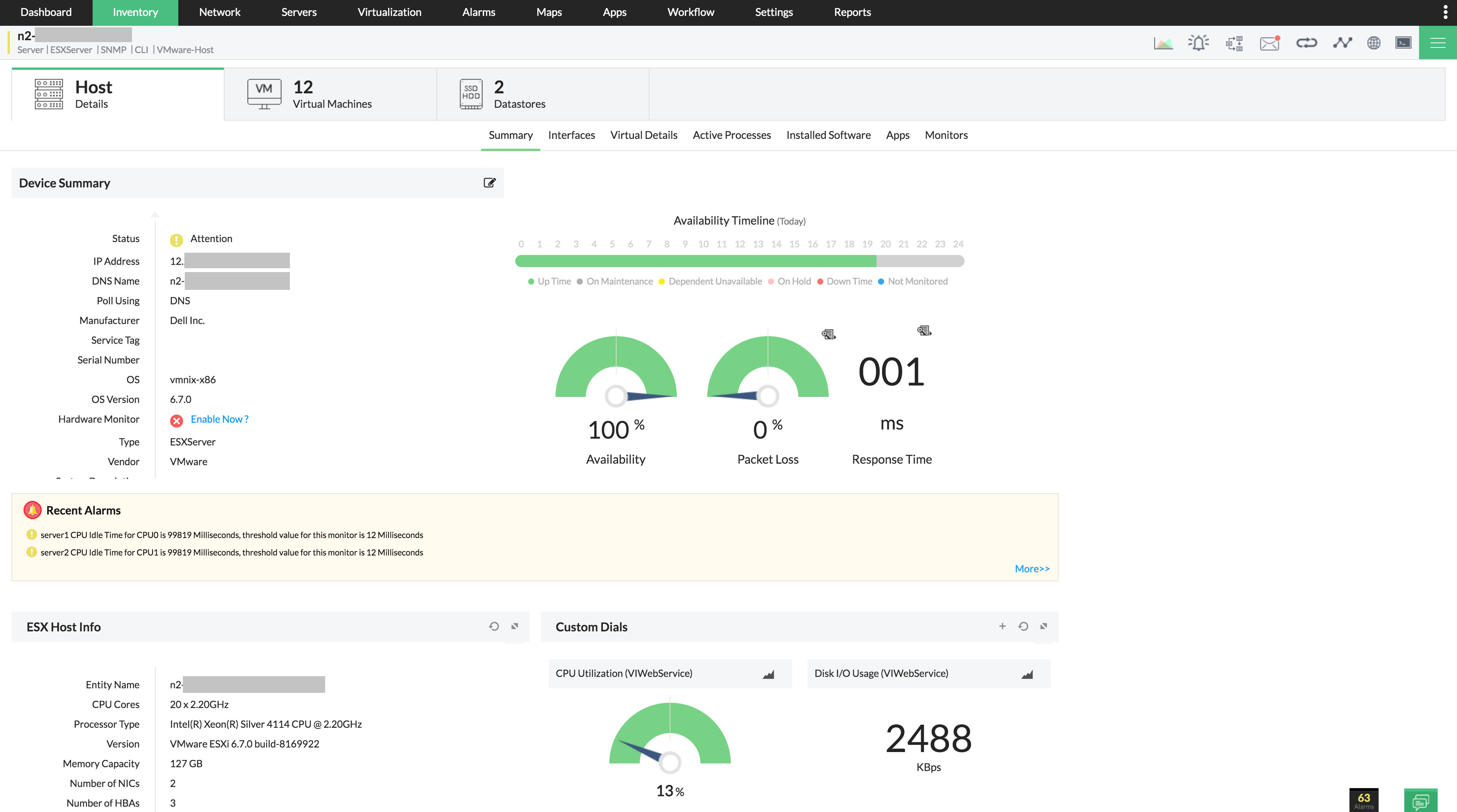 Herramienta de supervisión VMware ESXi: ManageEngine OpManager