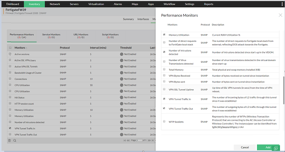 VPN Network Monitoring - ManageEngine OpManager
