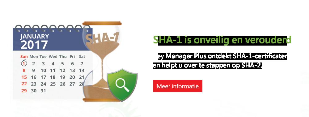 SHA-1 is onveilig en verouderd