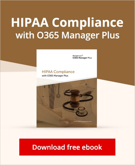 HIPAA compliance with O365 Manager Plus