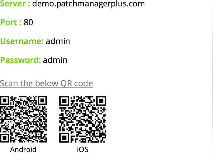 Patch Manager Plus Mobile App