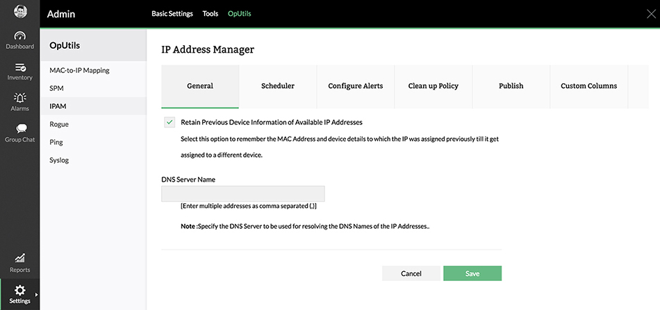 Zarządzanie adresami IP