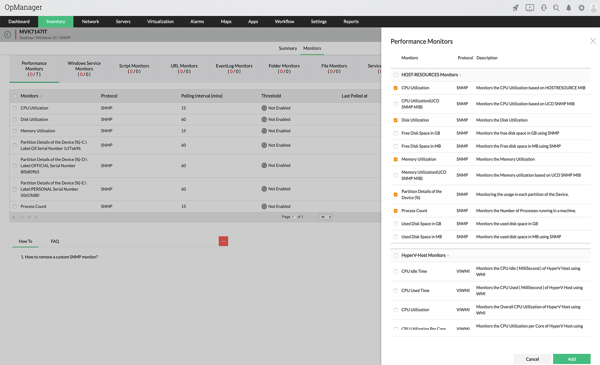 CPU Monitoring Tools - ManageEngine OpManager