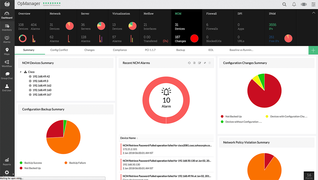 Best Network Management - ManageEngine OpManager