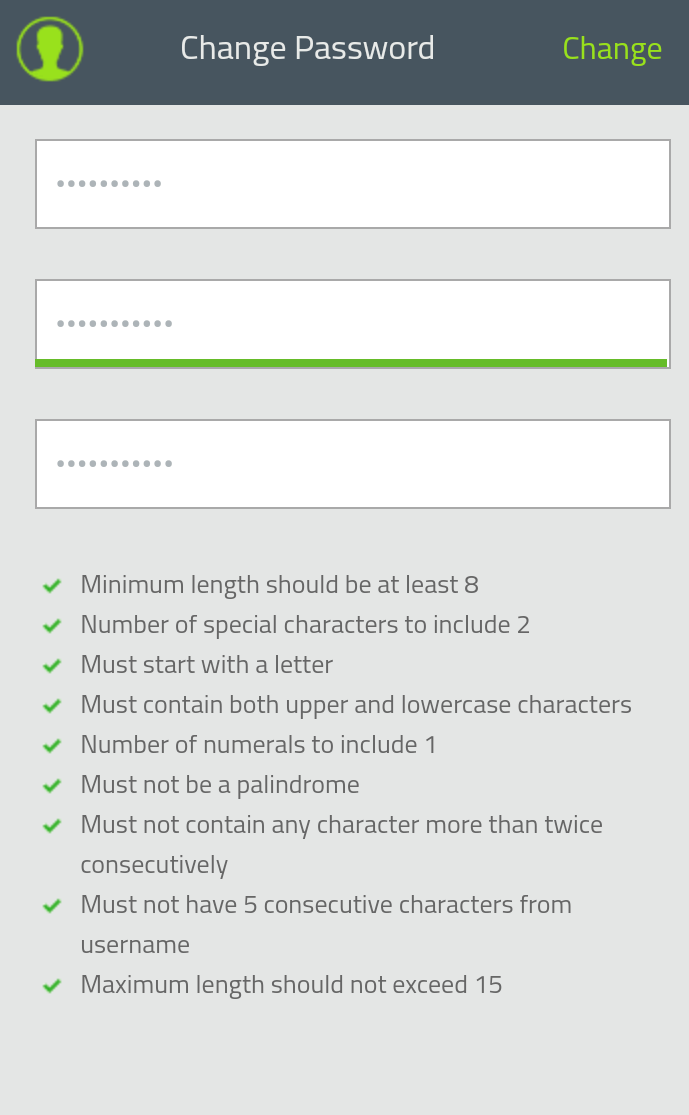 Mobile password policy enforcer overview