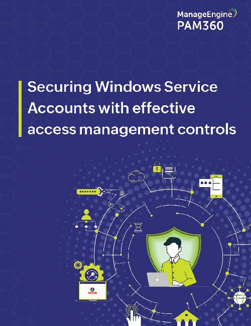 Service account management e-book
