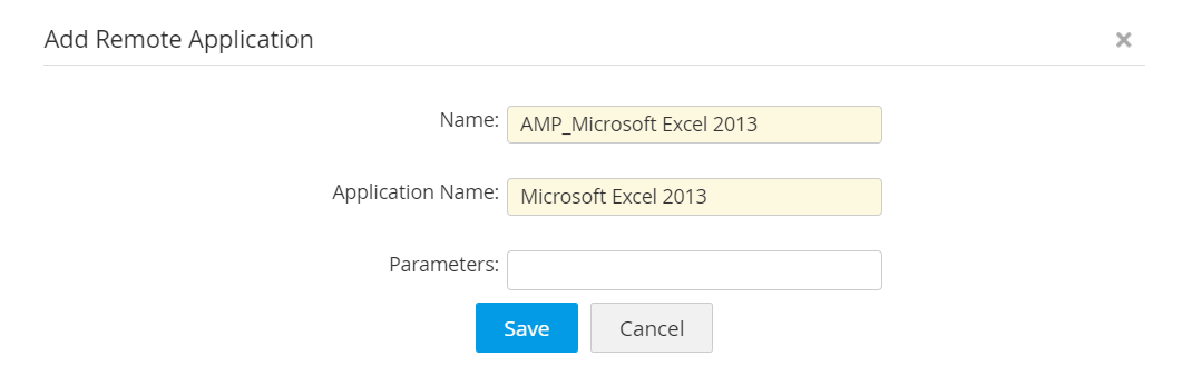 Adding remoteapp manually-Access Manager Plus